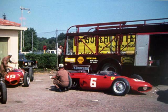 Ferrari 156 Dino F1 (Shark Nose) Paddock Italian Grand Prix 1962 Monza