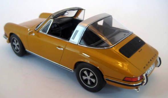Norev - 1:18 - Porsche 911 S 2.4 Targa 1973 Goldmetallic (F-Model) - Limited Edition - Mint Boxed