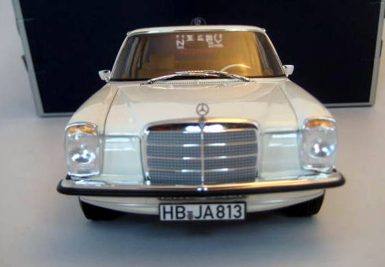 Norev - 1:18 - Mercedes-Benz 200 (W115) White 1968 /8 (Strich 8) - Limited Edition - Mint Boxed