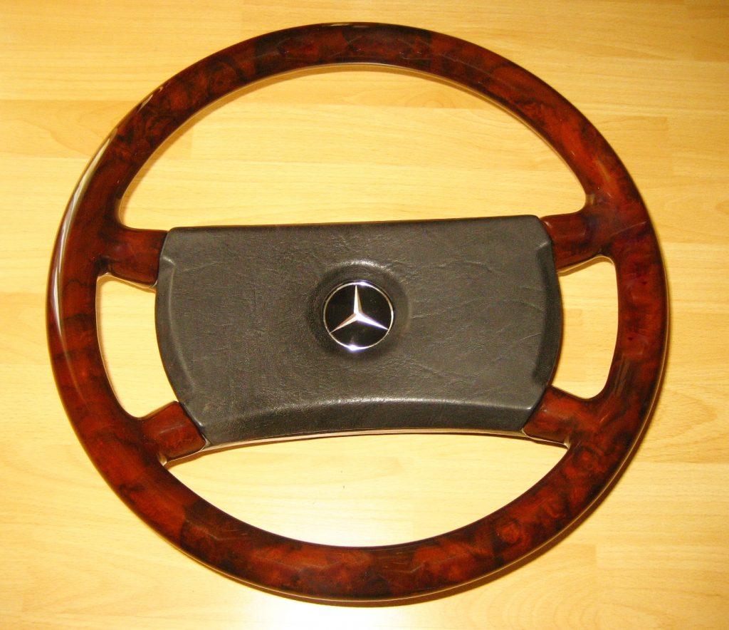 Mercedes Wurzelholz ( Vollholz ) Lenkrad W107 W124 W463 W126 W201 Neu Bearbeitet