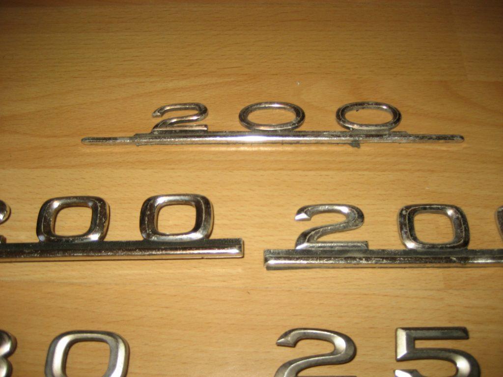 Typenschilder 8 stk.für Mercedes Benz, Baureihe W123-124-126