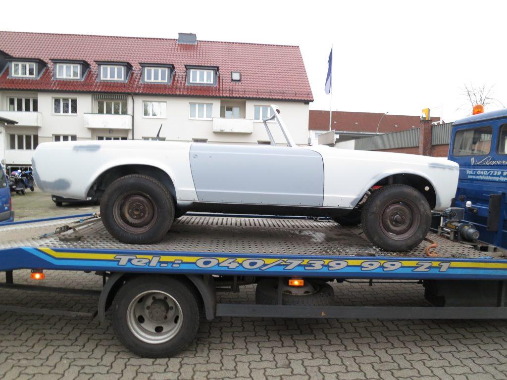 Mercedes Benz - Pagode zur Restauration Aufbau