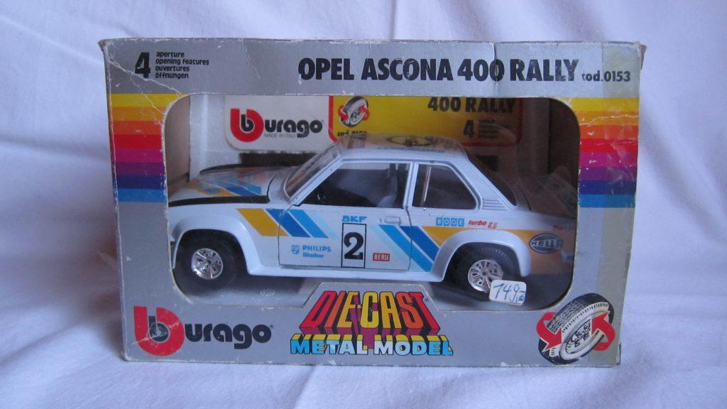 Opel Ascona 400 Burago 70er Modell Modellauto 1:24 Originalkarton