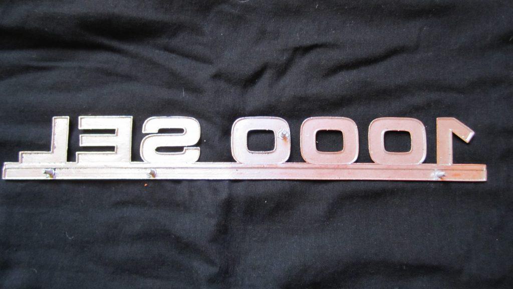 Schriftzug 1000 SEL silber Mercedes limitiert