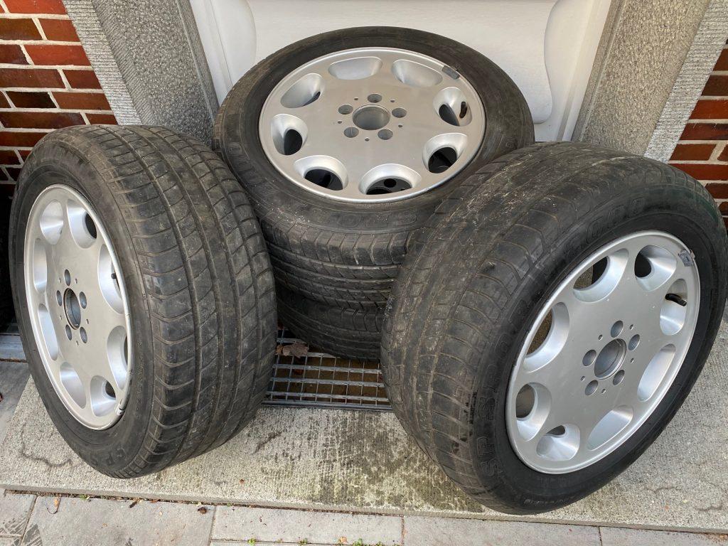 """Seltene 16""""-Aluräder Achtloch für Mercedes W 124"""