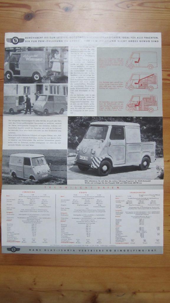 Goggo Goggomobil Prospekt Coupé Limousine Flyer Broschüre