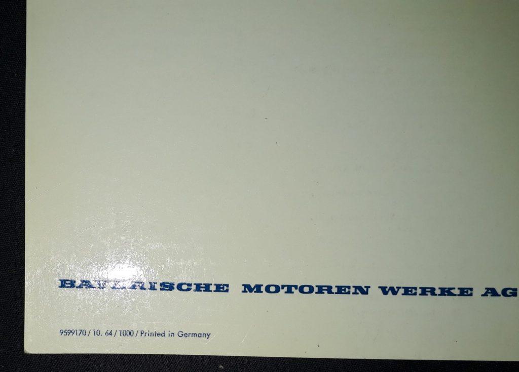 Betriebsanleitung  Original BMW Bertone  3200 CS    v.10/1964