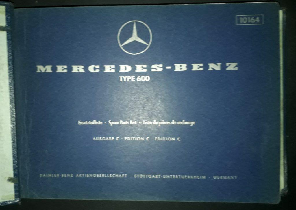 Ersatzteilkatalog Original  Mercedes Benz 600