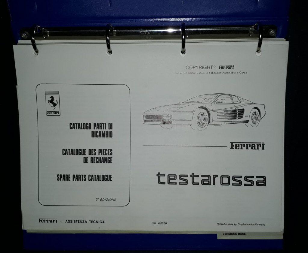 Ersatzteilkatalog Original  Ferrari  Testarossa  1987