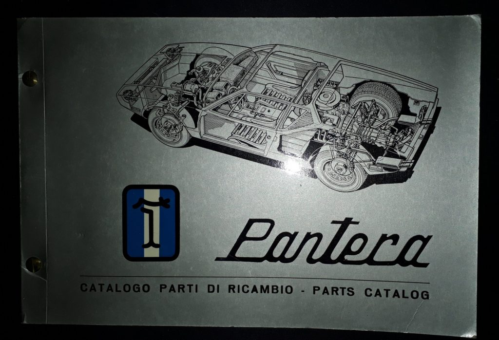 Ersatzteilkatalog Original  DeTomaso Pantera