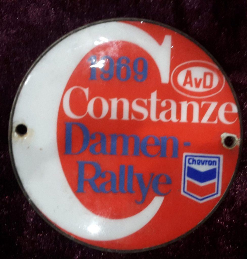 Plakette AvD / Chevron  Constanze Damen Rallye 1969