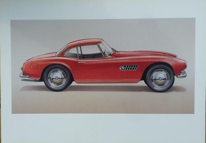 Technical Arts Hochglanzpapier Kunstdruck   -- BMW 507 Hardtop