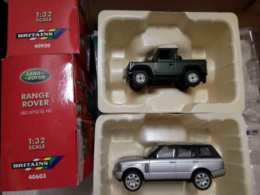 Land Rover, Range Rover, ModelCars from Britains old versions