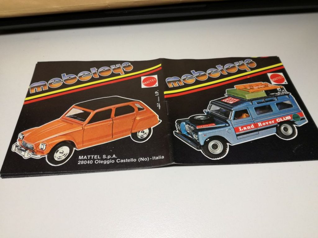 Modelcar prospects from SIKU 1973, Matchbox 1977, Mebetoys 197?, old conditions