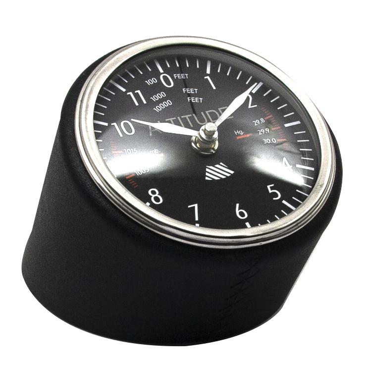 Uhr Tischuhr Altitude clock Fliegeruhr Höhenmesser-Design schwarz