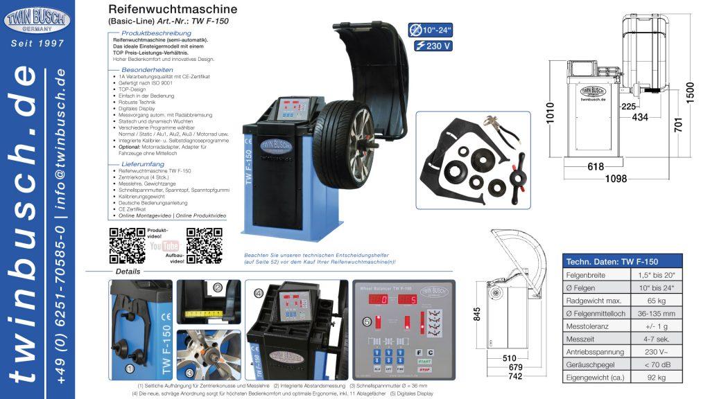 Twin Busch GmbH | Reifenwuchtmaschine TW F-150