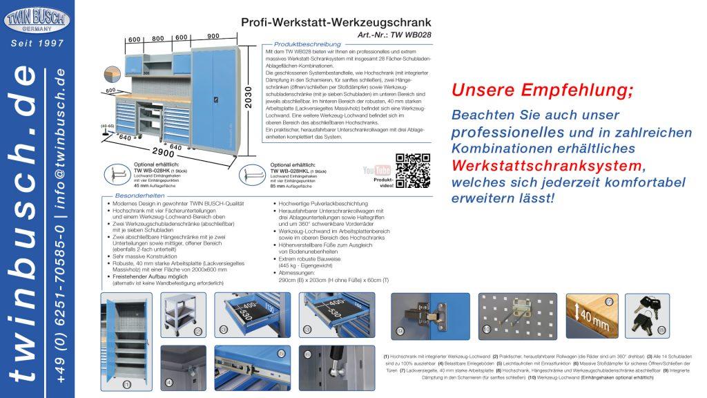 Twin Busch GmbH | Profi-Werkstatt-Werkzeugschrank WB028