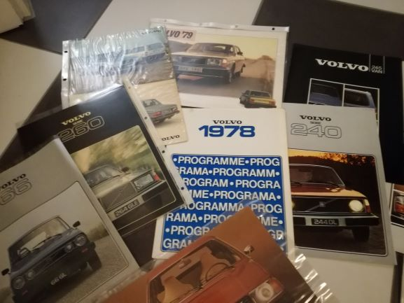 VOLVO Prospekts, Folders from 1965 tmt. 1980, different languages and versions