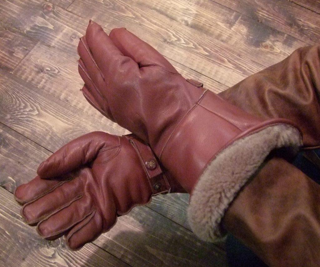 Pelzgefütterte Stulpenhandschuhe aus England