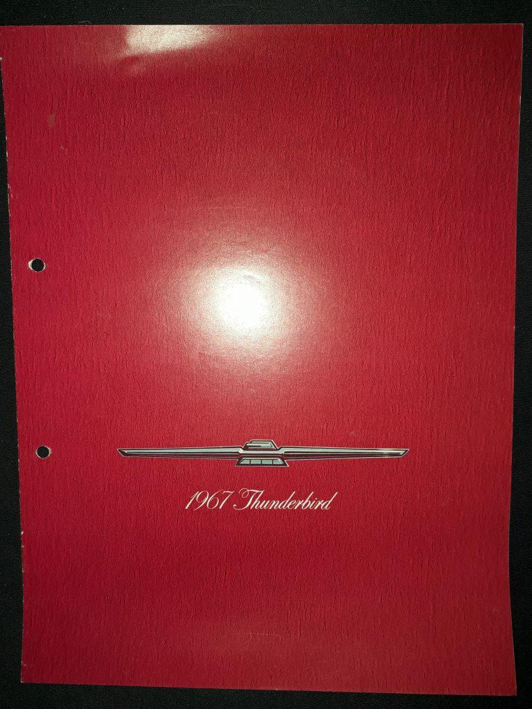 Original Verkaufsprospekt Ford Thunderbird  1967