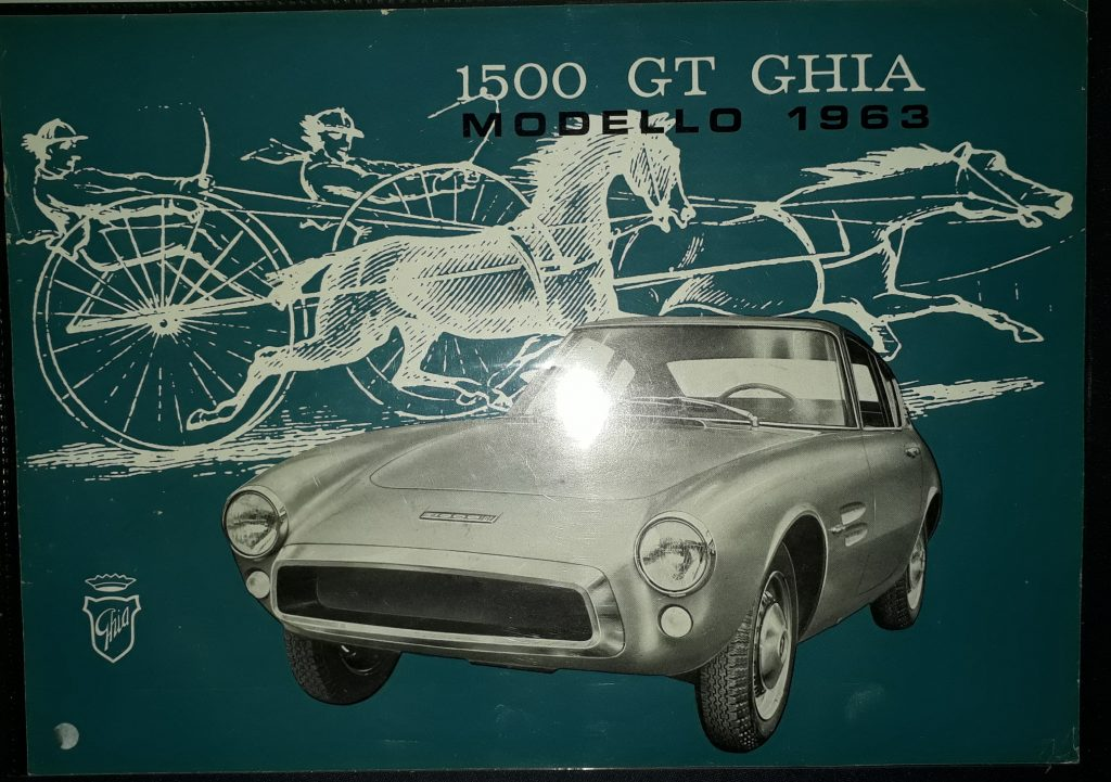 Original Verkaufsprospekt Ghia 1500