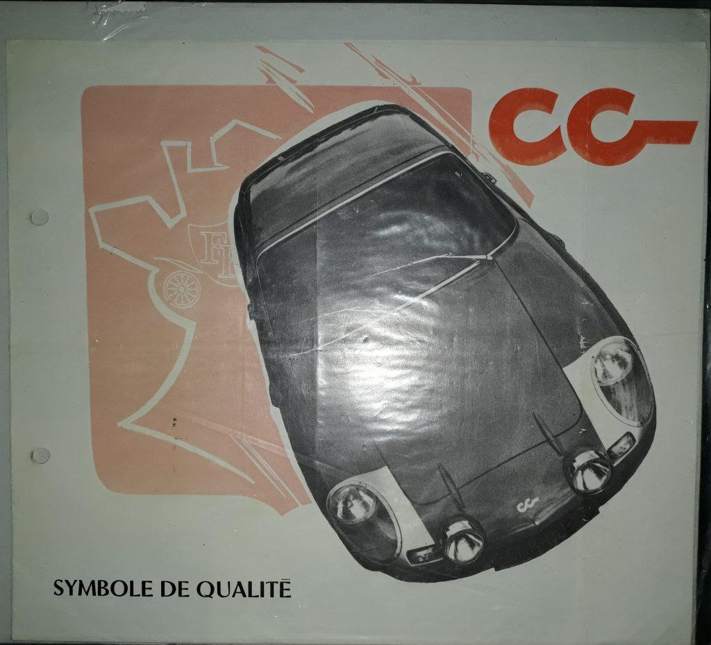 Original Verkaufsprospekt  CG Coupe