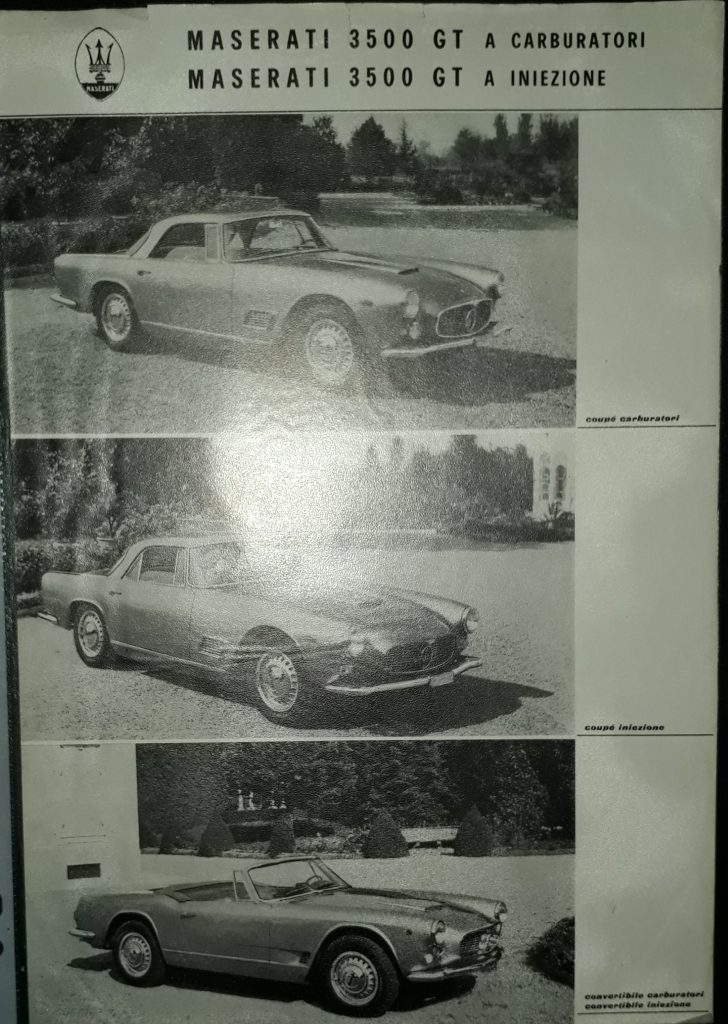 Original Verkaufsprospekt Maserati