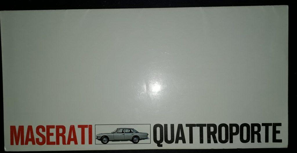Original Verkaufsprospekt Maserati Quattroporte