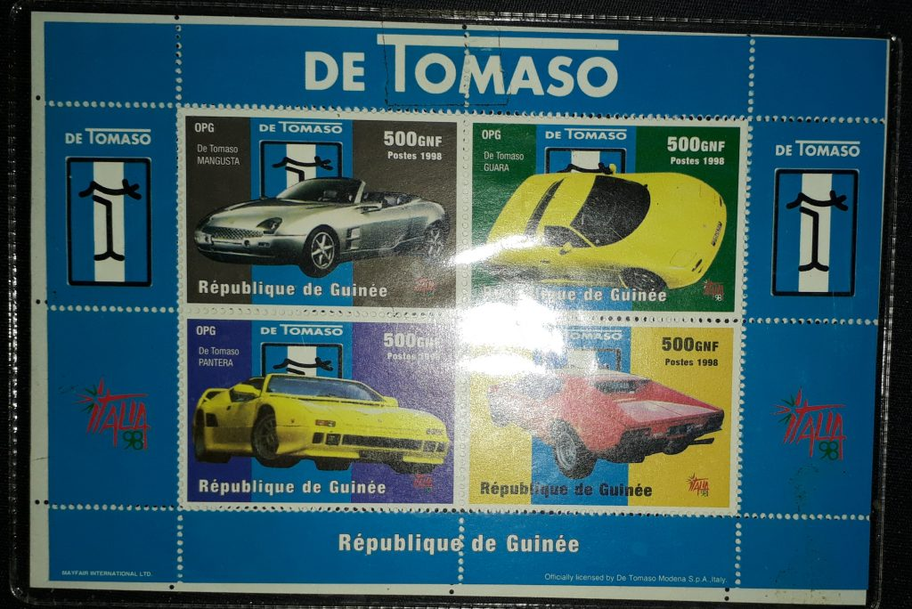 DeTomaso Original Briefmarken