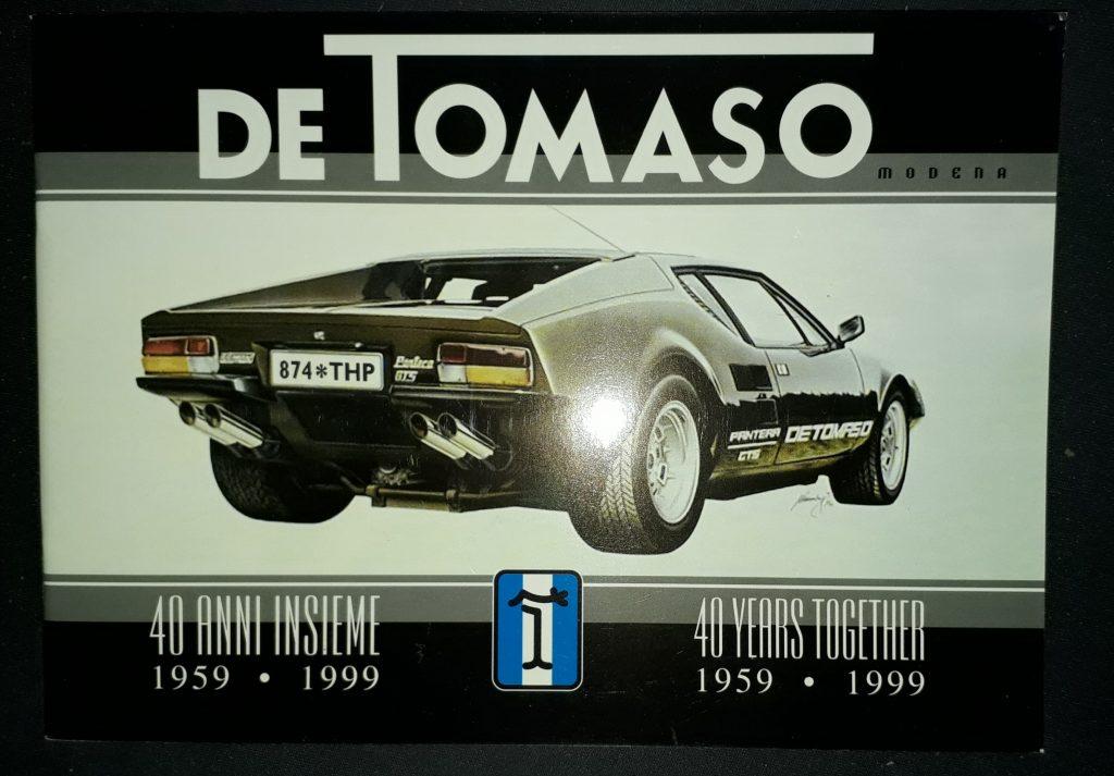 DeTomaso Original Fest-Schrift 40 Jahre