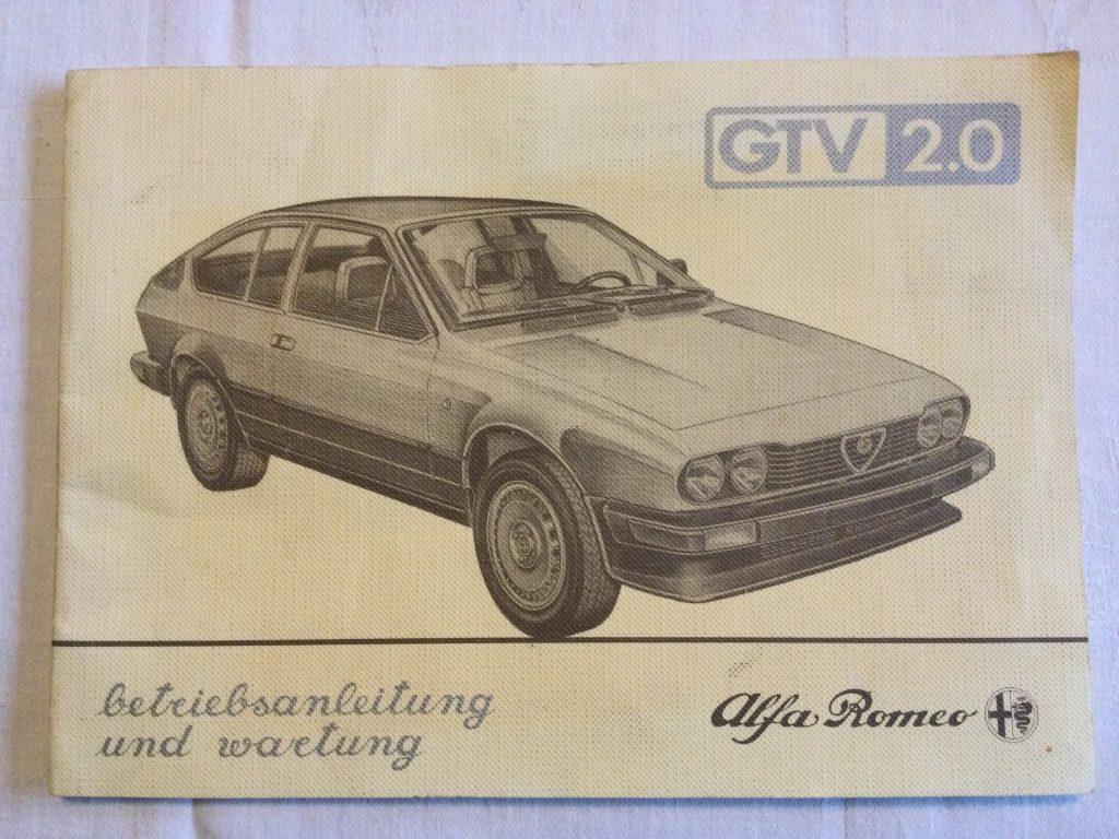 Alfa Romeo GTV 2.0 Betriebsanleitung