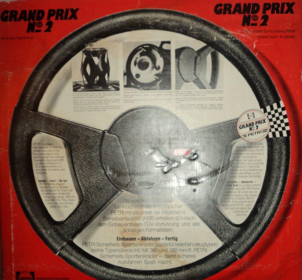 Sonderlenkrad Sportlenkrad Ø 380mm original Petri Grand Prix No. 2 für VW Käfer Karmann