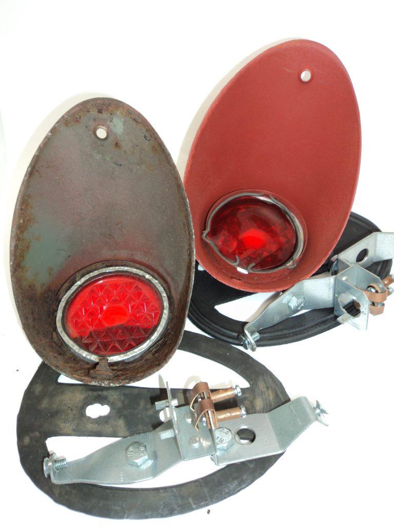 gebrauchte Brezelkäfer Rückleuchten Rücklicht links + rechts original VW Brezel Käfer ab Bj. 1950 bis 1952