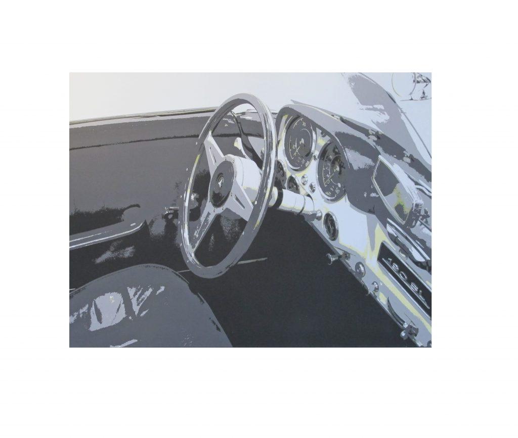 Bild Unikat Foto auf Leinwand Mercedes 190SL `R`