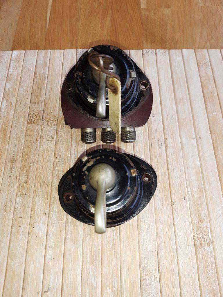 Magneti Marelli Schalter-Paar für Zündung/Licht/Blinker mit Sicherungen Für Magnetzündung