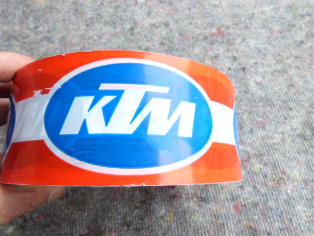 KTM Absperrband - RETRO 70iger JAHRE - Originalware !! 10m 20€ - so siehts aus !