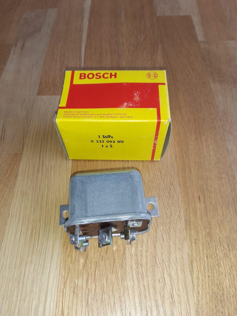 Bosch Arbeitsstromrelais 12V alte Metallausführung