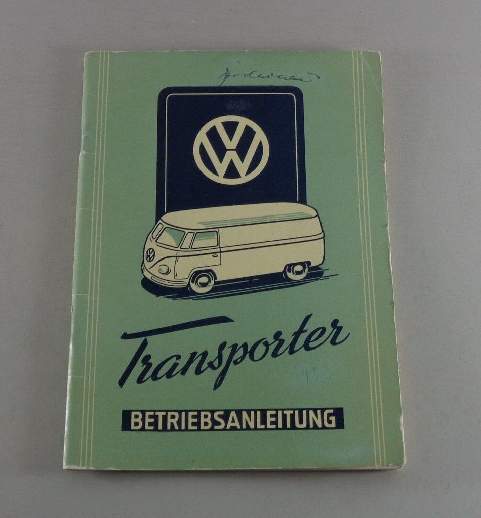 Betriebsanleitung VW Bus / Transporter T1 von 03/1952