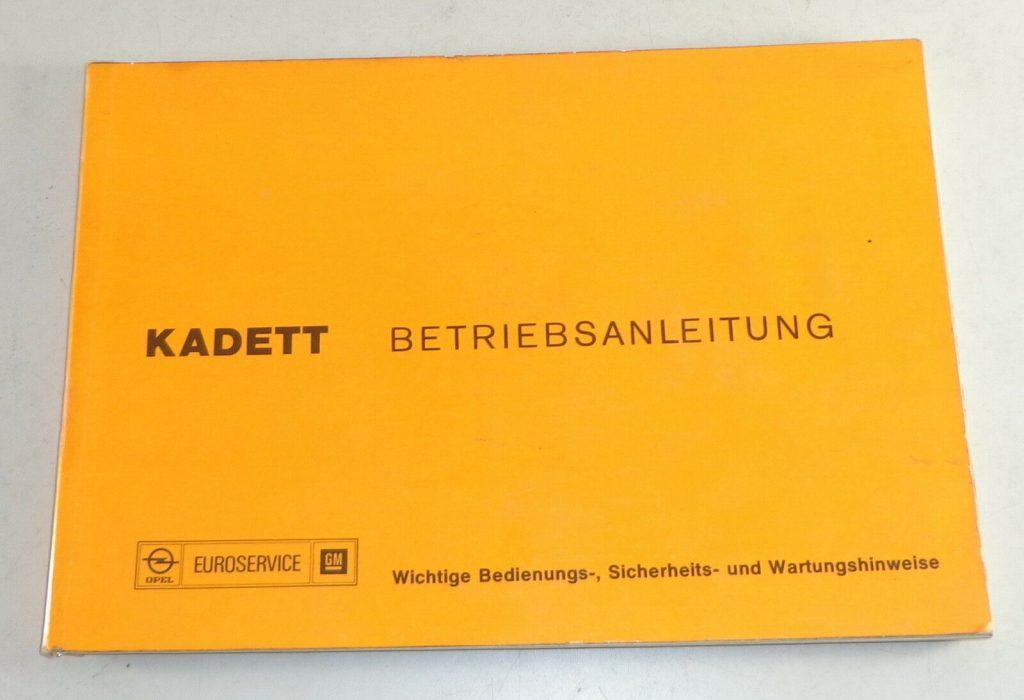 Betriebsanleitung / Handbuch Opel Kadett C Stand 10/1975
